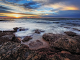 A Seascape at Sunrise from Miramar, Argentina Photographic Print by  Stocktrek Images