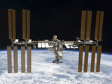 Stocktrek Images - The International Space Station in Orbit Above Earth - Fotografik Baskı