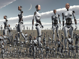 Artist's Concept of an Abundance of Androids with Artificial Intelligence Photographic Print by  Stocktrek Images