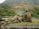 Marines Engage Unknown-Distance Targets at Camp Schwab, Japan Photographic Print by  Stocktrek Images