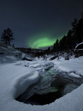 Aurora Borealis over Tennevik River in Norway Photographic Print by  Stocktrek Images