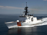 U.S. Coast Guard Cutter Waesche in the Navigates the Gulf of Mexico Photographic Print by  Stocktrek Images