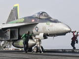 An F/A-18 Super Hornet Is Ready to Launch from a Catapult Aboard USS Harry S. Truman Photographic Print by  Stocktrek Images