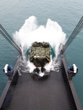 Amphibious Assault Vehicles Disembark from USNS 1st LT Jack Lummus Photographic Print by  Stocktrek Images