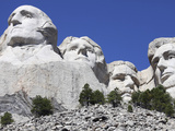Mount Rushmore National Memorial, South Dakota, Usa Photographic Print by  Stocktrek Images