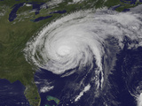 Satellite View of Hurricane Irene Fotografie-Druck von  Stocktrek Images