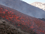 Lava Flow During Eruption of Mount Etna Volcano, Sicily, Italy Photographic Print by  Stocktrek Images