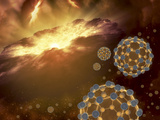 Buckyballs Floating in Interstellar Space Near a Region of Current Star-Formation Photographic Print by  Stocktrek Images