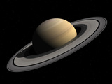 Artist's Concept of Saturn Photographic Print by  Stocktrek Images