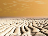 A Spring Sunrise over the Surface of Mars' South Pole Photographic Print by  Stocktrek Images