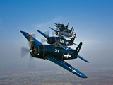 Five Grumman F8F Bearcats in Formation Photographic Print by  Stocktrek Images