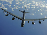 A U.S. Air Force B-52 Stratofortress Flies a Mission over the Pacific Ocean Photographic Print by  Stocktrek Images
