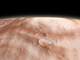 High Altitude Clouds of Water Ice Crystals on the Planet Mars Photographic Print by  Stocktrek Images