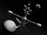 Artist's Concept of a Lunar Cycler Photographic Print by  Stocktrek Images