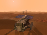 Artist's Concept of a Martian Rover Photographic Print by  Stocktrek Images