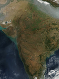 Satellite View of Central India Photographic Print by  Stocktrek Images