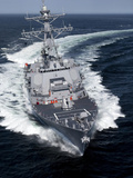 The Pre-Commissioning Unit Jason Dunham Conducts Sea Trials in the Atlantic Ocean Photographie par  Stocktrek Images