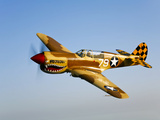 A P-40N Warhawk in Flight Photographic Print by  Stocktrek Images