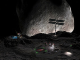 Artist's Concept of a Mining Settlement on the Double Asteroid 90 Antiope Photographic Print by  Stocktrek Images