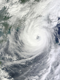 Typhoon Megi Photographic Print by  Stocktrek Images