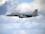 A United States Air Force F-15 Strike Eagle in Flight Photographic Print by  Stocktrek Images