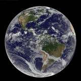 Full Earth Showing North America and South America Photographic Print by  Stocktrek Images