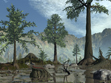The First Trees Begin to Populate Earth Near the End of the Devonian Period Photographic Print by  Stocktrek Images