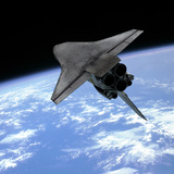 Artist&#39;s Concept of a Space Shuttle Entering Earth Orbit Photographic Print by  Stocktrek Images