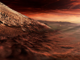 Dark Dunes March Along the Floor of Gale Crater, Mars Photographic Print by  Stocktrek Images