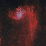 The Flaming Star Nebula Photographic Print by  Stocktrek Images