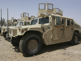 A Row of Humvees from Task Force Military Police Photographic Print by  Stocktrek Images