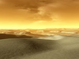 Artist's Concept of the Terrain Near the South Pole of Mars Photographic Print by  Stocktrek Images