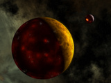 Artist's Concept of a Young, Turbulent Earth Photographic Print by  Stocktrek Images