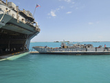A Landing Craft Utility Approaches the Well Deck of USS Essex Photographic Print by  Stocktrek Images
