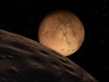 Stocktrek Images - Mars Seen from its Outer Moon, Deimos - Fotografik Baskı