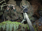 A British Army Sniper Team Dressed in Ghillie Suits Photographic Print by  Stocktrek Images