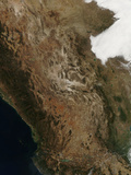Satellite View of the Landscape of Central Mexico Photographic Print by  Stocktrek Images