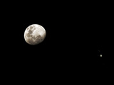 Earth&#39;s Moon and Jupiter Separated by Six Degrees Photographic Print by  Stocktrek Images