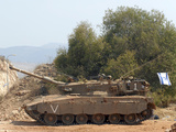The Merkava Mark III-D main battle tank of the Israel Defense Force Photographic Print by  Stocktrek Images
