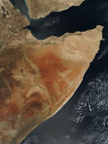 Satellite View of the Horn of Africa Photographic Print by  Stocktrek Images