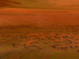 Artist's Concept of the Surface of Saturn's Moon Titan Photographic Print by  Stocktrek Images