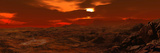 Panorama of a Landscape on Venus Photographic Print by  Stocktrek Images