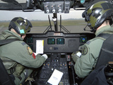 Pilots Inside the Cockpit of a Royal Air Force Merlin Helicopter at RAF Lyneham Lmina fotogrfica por Stocktrek Images
