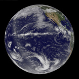 Satellite Image of Earth Centered over the Pacific Ocean Photographic Print by  Stocktrek Images