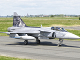 A Saab JAS-39 Gripen of the Czech Air Force on the Flight Line at Cambrai Air Base, France Photographic Print by  Stocktrek Images