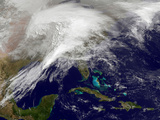 Satellite View of a Massive Winter Storm over the United States Photographic Print by  Stocktrek Images