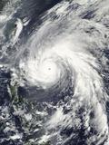 Super Typhoon Megi Photographic Print by  Stocktrek Images