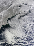 Satellite View of Clouds across the Skies of the North Atlantic Photographic Print by  Stocktrek Images