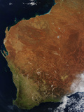 Satellite View of Western Australia Photographic Print by  Stocktrek Images