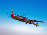 A Lockheed P-38 Lightning Fighter Aircraft in Flight Photographic Print by  Stocktrek Images